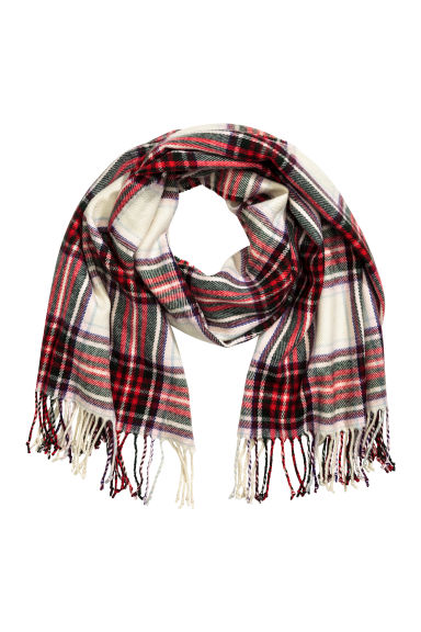 Woven scarf - Red/Checked - Ladies | H&M 1