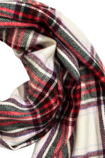 Woven scarf - Red/Checked - Ladies | H&M 3
