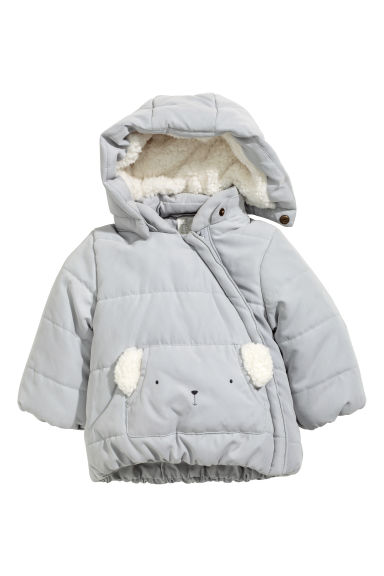 Padded jacket - Light grey - Kids | H&M CN