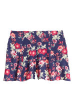 Patterned shorts - Dark blue/Red - Ladies | H&M CN 2