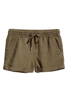 Shorts corti in lyocell