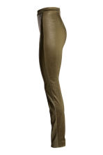 Coated treggings - Khaki green - Ladies | H&M CN 3