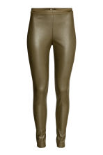 Coated treggings - Khaki green - Ladies | H&M CN 2