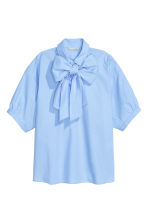 Pussy bow blouse - Light blue - Ladies | H&M CN 2