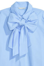 Pussy bow blouse - Light blue - Ladies | H&M GB 3