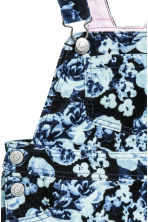 Corduroy dungaree dress - Dark blue/Floral - Kids | H&M CN 4