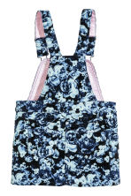 Corduroy dungaree dress - Dark blue/Floral - Kids | H&M CN 3