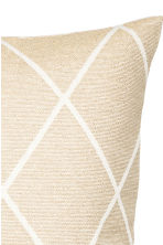 Jacquard-weave cushion cover - Beige/Gold - Home All | H&M CN 4