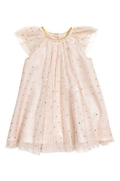 Tulle dress - Powder pink/Spotted - Kids | H&M CN 1