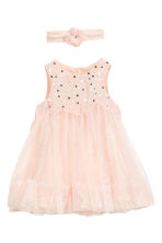 Tulle dress with hairband - Powder pink - Kids | H&M CN 1