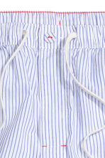 Patterned pyjama bottoms - White/Blue striped - Men | H&M CN 3