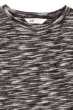 Jumper in a textured knit - Black marl - Kids | H&M CN 3