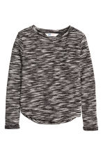 Jumper in a textured knit - Black marl - Kids | H&M CN 2
