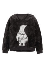 Sweatshirt - Black - Kids | H&M CN 2