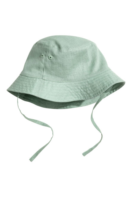 Linen-blend fisherman's hat