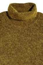 Mohair-blend polo-neck jumper - Olive green marl -  | H&M 3