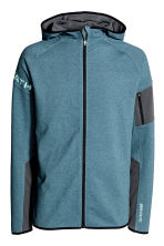 Hooded sports jacket - Grey-blue marl - Men | H&M CN 2