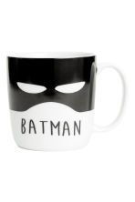 Petit mug en porcelaine - Blanc/Batman - Home All | H&M FR 2
