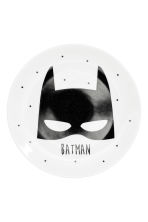 Porseleinen bordje - Wit/Batman - HOME | H&M BE 2