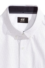 Short-sleeved cotton shirt - White/Spotted - Men | H&M CN 3