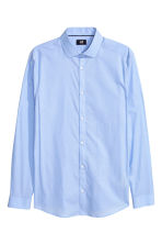 Cotton shirt Slim fit - Light blue - Men | H&M CN 2