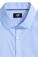 Cotton shirt Slim fit - Light blue - Men | H&M CN 3