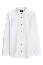 Cotton shirt Slim fit - White - Men | H&M CN 2