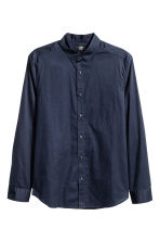Cotton shirt Regular fit - Dark blue - Men | H&M CN 1