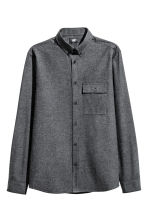 Cotton flannel shirt - Dark grey marl - Men | H&M CN 2