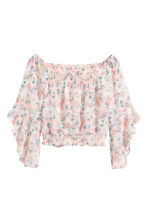 Boho blouse - Powder pink/Floral - Ladies | H&M CN 2