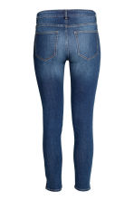 Skinny Low Ankle Jeans - 深牛仔蓝/水洗 - 女士 | H&M CN 2