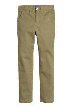 Skinny fit Chinos - Khaki green - Kids | H&M CN 2