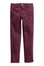 Slim fit Chinos - Burgundy - Kids | H&M CN 2