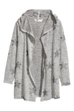 Cardigan with a glitter print - Grey marl/Stars - Kids | H&M CN 2