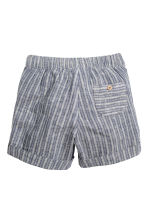 Shorts in a linen blend - Dark blue/Striped - Kids | H&M CN 2