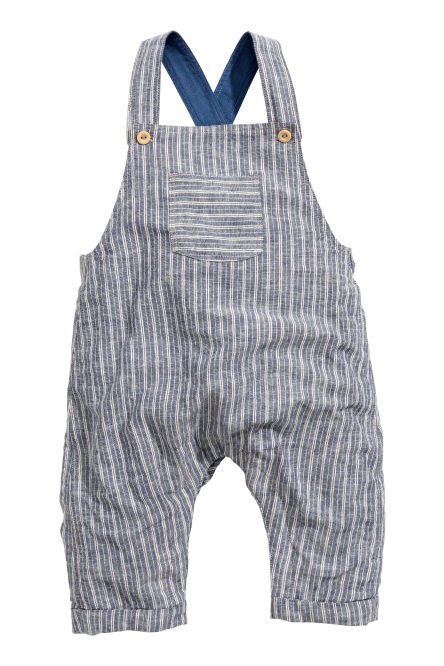 Dungarees in a linen blend