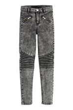 Biker trousers - Black washed out - Kids | H&M CN 2