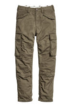 Lined cargo pants - Khaki green - Kids | H&M CN 2