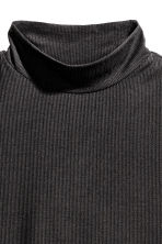 Ribbed turtleneck top - Black -  | H&M CN 3