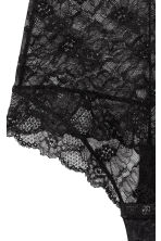 Lace string body - Black - Ladies | H&M CN 3