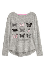 Grey marl/Butterfly