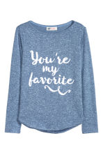 Fine-knit jumper - Blue marl -  | H&M CN 2