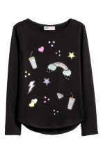 Fine-knit jumper - Black - Kids | H&M CN 2