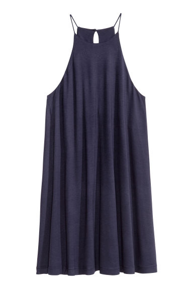 A-line jersey dress - Dark blue - Ladies | H&M CN 1