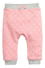 Joggers - Light pink/Heart - Kids | H&M CN 1