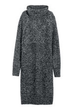 Knitted turtleneck dress - Black marl - Ladies | H&M GB 2