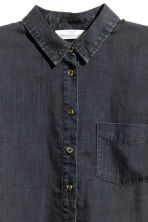 Lyocell denim shirt - Black - Ladies | H&M CN 3