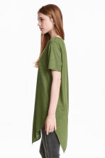 Asymmetric T-shirt - Khaki green - Ladies | H&M CN 4