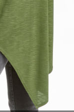 Asymmetric T-shirt - Khaki green - Ladies | H&M CN 3