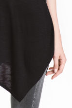 Asymmetric T-shirt - Black - Ladies | H&M CN 3